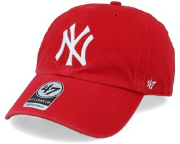 New York Yankees Clean Up Red/White Adjustable - 47 Brand