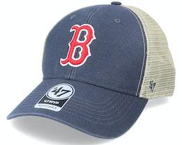 Boston Red Sox Flagship Wash Mvp Vintage Navy/Beige Trucker - 47 Brand