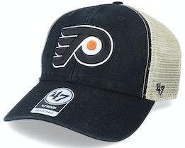 Philadelphia Flyers Flagship Wash Mvp Black/Beige Trucker - 47 Brand