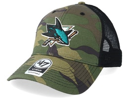 San Jose Sharks 47 Mvp Camo/Black Trucker - 47 Brand