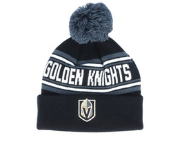 Vegas Golden Knights Jacquard cuffed knit Black/Charcoal Pom - Outerstuff