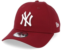 New York Yankees League Essential 9Forty Cardinal/White Adjustable - New Era
