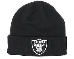 Las Vegas Raiders Team Essential Knit Black/White Cuff - New Era