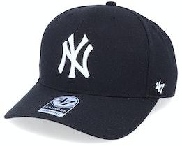 New York Yankees Cold Zone Mvp DP Black/White Adjustable - 47 Brand