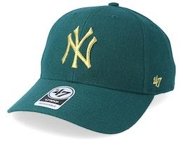 New York Yankees Metallic 47 Mvp Wool Pacific Green/Gold Adjustable - 47 Brand