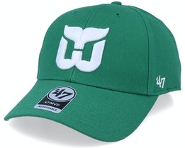 Hartford Whalers Mvp Vintage Kelly Green/White Adjustable - 47 Brand