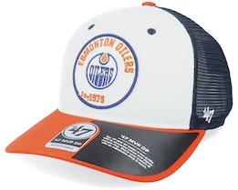 Edmonton Oilers Swell Mvp Dv White/Light Navy/Orange Trucker - 47 Brand