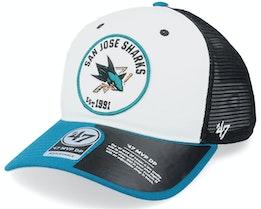 San Jose Sharks Swell Mvp Dv White/BlackBlue Trucker - 47 Brand