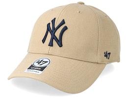 New York Yankees 47 Mvp Wool Khaki/Black Adjustable - 47 Brand