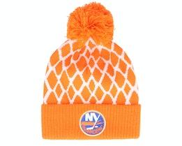 New York Islanders Culture Cuffed Knit Orange Pom - Adidas