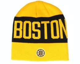 Boston Bruins 19 Yellow/Black Beanie - Adidas