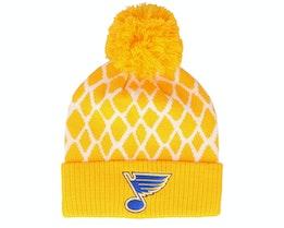 St. Louis Blues Culture Cuffed Knit Yellow Pom - Adidas