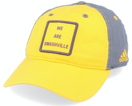 Nashville Predators Cotton Slouch Yellow/Grey Adjustable - Adidas