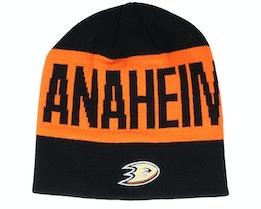 Anaheim Ducks 19 Black/Orange Beanie - Adidas
