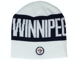 Winnipeg Jets 19 White/Black Beanie - Adidas