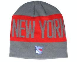 New York Rangers 19 Grey/Red Beanie - Adidas
