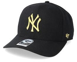 New York Yankees Cold Zone Metallic 47 Mvp DP Black/Gold Adjustable - 47 Brand