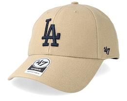 Los Angeles Dodgers 47 Mvp Wool Khaki/Black Adjustable - 47 Brand