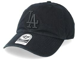 Los Angeles Dodgers 47 Clean Up Black Adjustable - 47 Brand