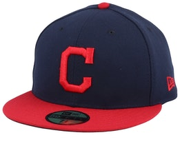 Cleveland Indians Authentic Collection Performance Navy/Red Fitted - New Era