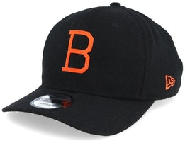 Baltimore Orioles Coop Flannel Pre Curved 9Fifty Black/Orange Adjustable - New Era