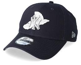 New York Yankees Light Weight 9Forty Black/Grey Adjustable - New Era