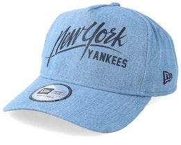 New York Yankees Denim A Frame Sky Adjustable - New Era