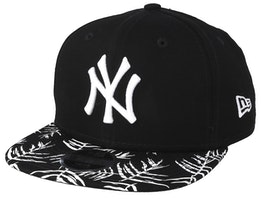Kids New York Yankees Palm Print 9Fifty Black/White Snapback - New Era