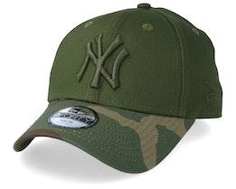 Kids New York Yankees Green/Camo Adjustable - New Era