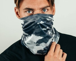 Neck Gaiter Painted Grey Camo Face Mask - Oakley