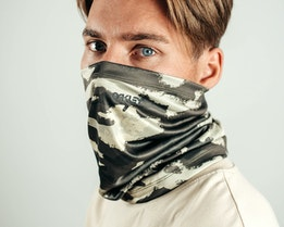 Neck Gaiter Painted Green Camo Face Mask - Oakley