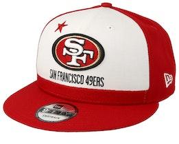 San Francisco 49ers 9Fifty NFL Draft 2019 White/Red Snapback - New Era
