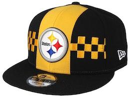 Pittsburgh Steelers 9Fifty NFL Draft 2019 Yellow/Black Snapback - New Era
