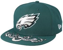 Philadelphia Eagles 9Fifty NFL Draft 2019 Green Snapback - New Era