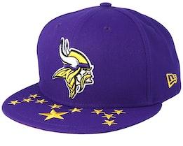 Minnesota Vikings 9Fifty NFL Draft 2019 Purple Snapback - New Era