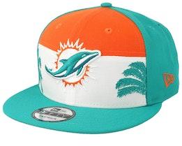 Miami Dolphins 9Fifty NFL Draft 2019 Orange/White/Teal Snapback - New Era