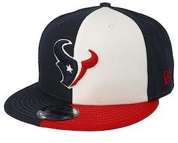 Houston Texans 9Fifty NFL Draft 2019 White/Red/Navy Snapback - New Era