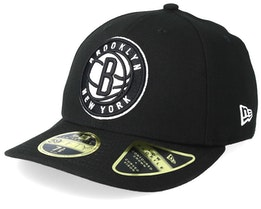 Brooklyn Nets Low Profile 59Fifty Black Fitted - New Era