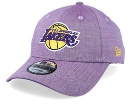LA Lakers Chambray League 9Forty Washed Purple Adjustable - New Era
