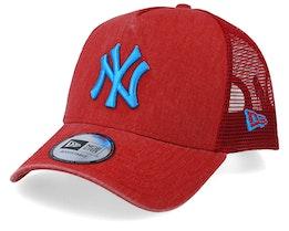 New York Yankees Washed Red/Blue Trucker - New Era