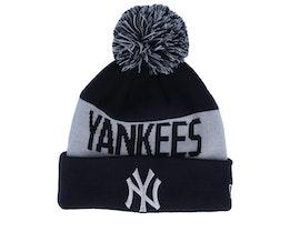 New York Yankees Tonal Knit Navy/Silver Pom - New Era