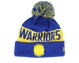 Golden State Warriors Tonal Knit Blue/Yellow Pom - New Era