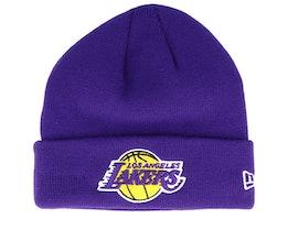 LA Lakers Knit Purple Cuff - New Era
