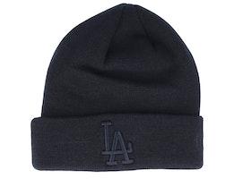 Los Angeles Dodgers Knit Black/Black Cuff - New Era