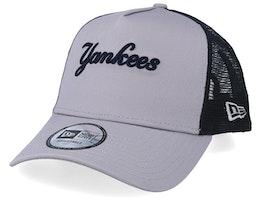 New York Yankees Reverse Team Grey/Black Trucker - New Era