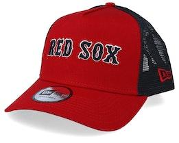 Boston Red Sox Reverse Team Red/Black Trucker - New Era