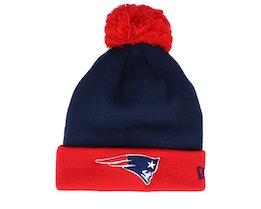 New England Patriots Pop Team Knit Navy/Red Pom - New Era