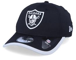 Oakland Raiders Back Script 39Thirty Black/Silver Flexfit - New Era