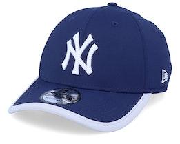New York Yankees Back Script 39Thirty Navy/Silver Flexfit - New Era
