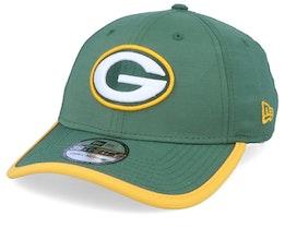 Green Bay Packers Back Script 39Thirty Green/Yellow Flexfit - New Era